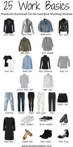 Working Mom's Casual Wardrobe Essentials, on a Budget – Mom . Read more The post Working Mom's Casual Wardrobe Essentials, on a Budget – Mom Notes Best appeared first on How To Be Trendy. Work Wardrobe Essentials, Capsule Wardrobe Women, Simple Wardrobe, Capsule Outfits, Wardrobe Ideas, Minimalist Wardrobe Essentials, Staple Wardrobe Pieces, Minimalist Outfits, Outfit Essentials