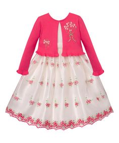 Look what I found on #zulily! Coral Embroidered A-Line Dress - Infant & Toddler #zulilyfinds