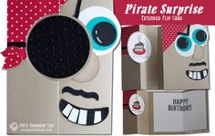 VIDEO: Pirate Surprise Extended Flip Card   Stampin Up Demonstrator - Tami White - Stamp With Tami Crafting and Card-Making Stampin Up blog