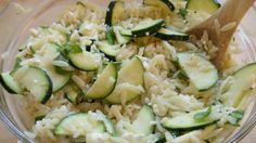Orzo salad with Zucchini and Feta #vegetarian