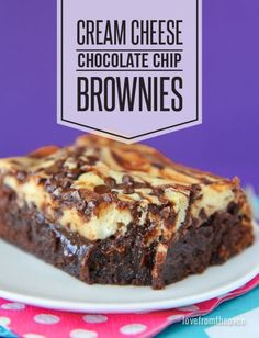 Cream Cheese Brownie recipe. For the love of cheesecake and brownies, all in one easy to make dessert!