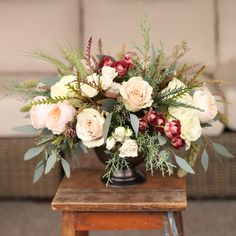 This is an example of how regular roses and spray roses can still look meadowy. This is a style we could do for your bouquet in quote #2. Wedding Flower Arrangements, Bridal Flowers, Floral Wreath, Floral Crown, Wedding Floral Arrangements, Garlands, Flower Crown, Wedding Flowers, Garland