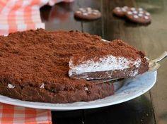 CROSTATA PAN DI STELLE SENZA COTTURA ricetta torta fredda 1200 Calories, Sweet Cakes, Tiramisu, Cheesecake, Tart, Deserts, Food And Drink, Sweets, Cooking