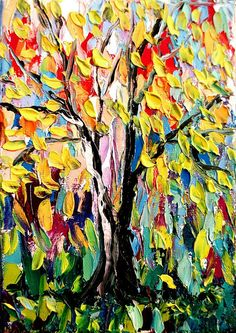 Story of the Tree 52  5x7x15 Landscape oil by SagittariusGallery, $58.00