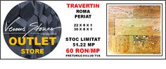 TRAVERTIN roma periat 22-30x8x1