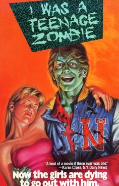 i was a teenage zombie vhs front