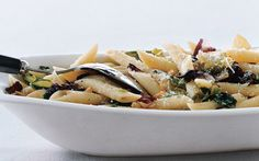 Penne Rigate with Mixed Greens and Pine Nuts: 2000s Recipes + Menus : gourmet.com
