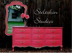 Saturated Cottage Coral Drexel Touraine French by StiltskinStudios, $800.00