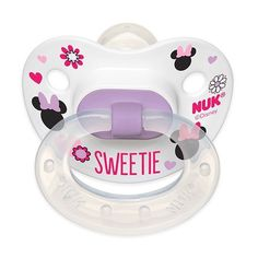 Mickey Mouse and Minnie Mouse Orthodontic Pacifiers ($1) ❤ liked on Polyvore featuring baby