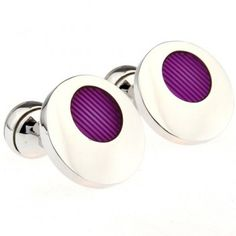 Circular Epoxy Purple Cuff Links,Hot sale cufflink backings wholesale