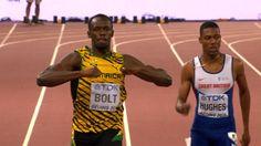 BBC Sport - Usain Bolt beats Justin Gatlin to 200m gold at World Chamionships