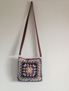 Handmade Crochet Messenger Bag by BoHoVnTg on Etsy