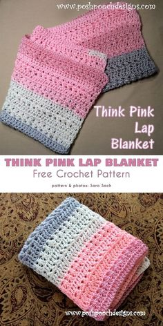 Crochet blanket patterns free 559572322453393322 - Think Pink Free Crochet Pattern Here are two themed projects , the Pink Lap Blanket and Awareness Ribbon Beanies that you can make and donate to a charity auction to support your chosen cause. Source by Crochet Afgans, Crochet Yarn, Crochet Stitches, Free Crochet, Crochet Flowers, Crochet Blankets, Baby Blankets, Booties Crochet, Baby Afghans