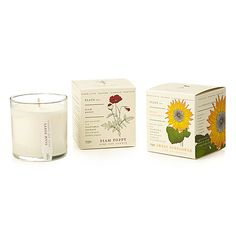 Lovely gifts from Uncommon Goods - a scented soy candle and then you can plant the packaging!  The packaging is treated with flower seeds.  Cute present for a teacher or as a hostess gift. $28.00
