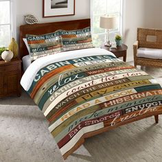 Channel your inner carefree child with this bedding. This design by Marla Rae will remind you what is really important for a relaxing vacation at the cabin! All of our products are digitally printed t