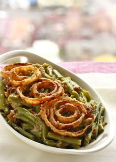 how to make green bean casserole from scratch using only fresh ingredients