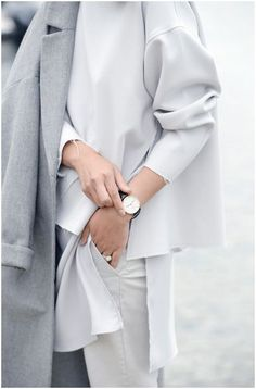 Loving these oversized, monochrome business outfits with raw edges... great take on the hi-lo
