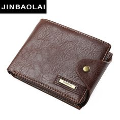 bec428d72c6ca1 Aliexpress.com : Buy JINBAOLAI New Designer Hight Quality PU Leather Wallet  Men ID Card Holder Button Coin Purses Pockets card holders Wallet for Men  from ...