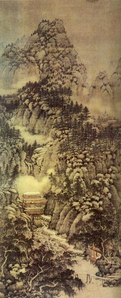 五代 - 巨然 -《萬壑松風圖》(傳)          上海博物館藏 |  Juran (Chinese: 巨然) (fl.10th century) was a Chinese landscape painter of the late Five Dynasties and Ten Kingdoms and early Northern Song periods.