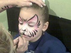 Full faces and Semi faces! Face Painting Tutorials, Face Painting Designs, Painting Videos, Body Painting, Princess Kitty, Painted Nail Art, Makati, Cat Face, Creative Kids