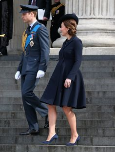 Pin for Later: Kate Middleton, Prince William, and Prince Harry Step Out For a Special Service