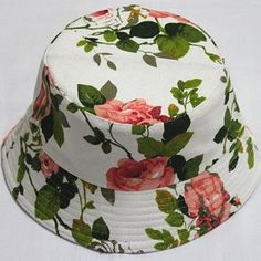 Sweet Floral Leaf Pattern Decorated Bucket Hat For Women