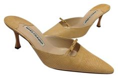 Manolo Blahnik New 38 (7.5 - 8) Beige Mules. Get the must-have mules of this season! These Manolo Blahnik New 38 (7.5 - 8) Beige Mules are a top 10 member favorite on Tradesy. Save on yours before they're sold out!
