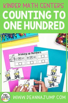 These kindergarten math centers are a great way to get your early elementary students practicing important math skills like numbers to 100. Include them as part of your math center rotations, or as early finisher activities during your kindergarten math block.