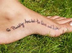 "instep foot tattoo - love how it follows the curve of the arch. Want it to say ""one step at a time."""