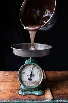 Chocolate Bourbon Caramel Macaron Cake