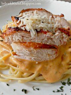 Pumpkin Alfredo Sauce. AMAZING fall pasta. A lot like butternut squash ravioli only easier!