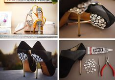 High Heel Shoes Makeover: DIY Jeweled Heels | Women's Shoes for ...