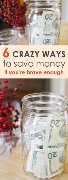 6 CRAZY WAYS TO SAVE MONEY,If youre brave enough,Finding crazy new ways for how to save money is a fun game! Here are 6 out of the box to save money, if you're brave enough! #affiliatemarketing