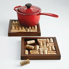 personalizable wine cork trivet kit at Red Envelope