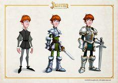 """Aquí dejo un poco de material de desarrollo de Justin, el prota de """"Justin y la Espada del Valor"""".                                 Y aquí lo..."""