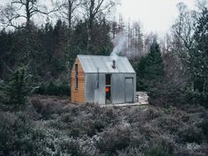 Prefabricated cabin can be transported to remote locations by lorry