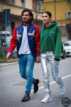 Patricia Manfield and Giotto Calendoli Street Style Street Fashion Streetsnaps by STYLEDUMONDE Street Style Fashion Photography