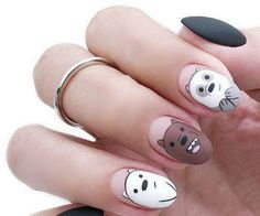 Gray manicures for the fall season Edgy Nails, Stylish Nails, Swag Nails, Cartoon Nail Designs, Nail Art Designs Videos, Manicure, Gel Nails, Best Acrylic Nails, Acrylic Nail Designs