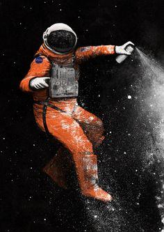 """Astronaut"" Art Print by Speakerine / Florent Bodart on Society6."