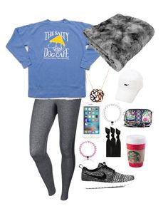 """""""Soccer Game!!"""" by sjkish on Polyvore featuring NIKE, BaubleBar, Emi-Jay, Everest and Vera Bradley"""