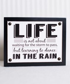 Loving this 'Life' Canvas Wall Sign on #zulily! #zulilyfinds