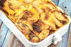 Lasagnes de pommes de terre au Thermomix Mozarella, Pepperoni, Pizza, Menu, Food, Apples, Cooking Recipes, Ground Meat, Gratin