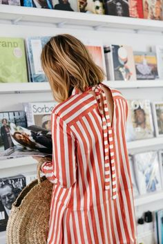 Latest fashion trend : stripe print ! <3 Summer outfit inspiration, casual style, ss17 trends, striped dress, ideas de look de verano, estilo casual, vestido con rayas tendencias 2017, idée de look d'été tendance mode , style casual, robe rayée, rayures