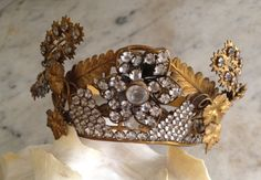 RESERVED // 1800s antique French crown 19th by histoireancienne
