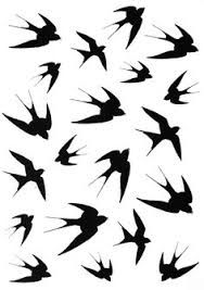 Image result for swallows silhouette