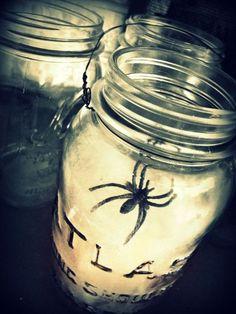 DIY Spiderweb Laterns. Yes, solar and LED mason jar lanterns ...
