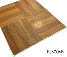 TOP-JOY Self Adhesive Wood PVC Floor Tiles install over most existing surfaces including concrete, wood and vinyl with no floor preparation or adhesives required. Vinyl Tile Flooring, Pvc Flooring, Floor Preparation, Wooden Pattern, Tile Installation, Butcher Block Cutting Board, Adhesive, Concrete, Tiles