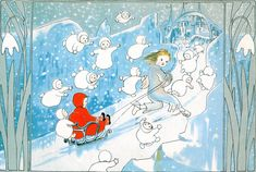 The Story of the Snow Children by Sibylle von Olfers. Illustrated by Elsa Beskow