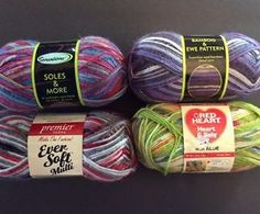 Yarn Lot Of 4 Sensations Red Heart Premier Superfine Medium Soles Bamboo Soft