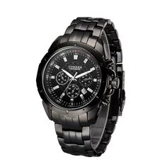 CURREN Wristwatch Quartz Watch Water Resistant High Quality Stainless Steel Band